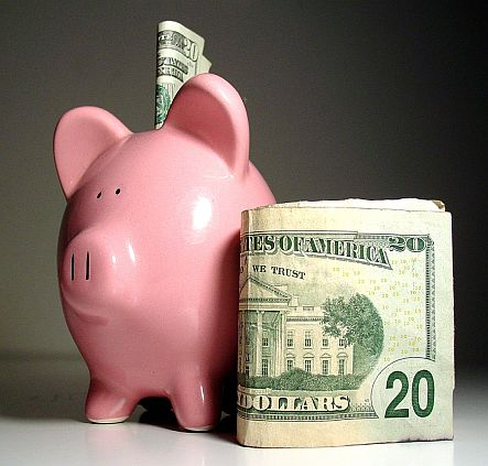 Piggy bank and money image